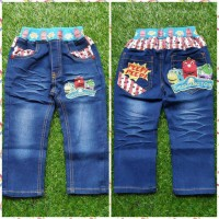 [Celana Anak Laki-Laki] Celana Jeans Motif Chuggington