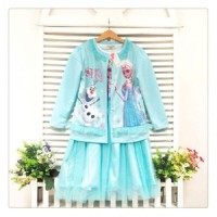 harga Gaun Elsa Frozen Cardi Blue - Baju Anak Import Branded Dress Tokopedia.com
