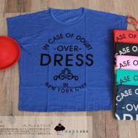 Kaos t-shirt blouse Batwing Big Size XXL cupcake cup cake dress bludru