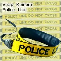 Strap Kamera Logo Police Line Do Not Cross