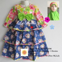 LaBella Baju Muslimah Anak REG1Mix-S3DM-016 Size 6 (6-7 Tahun)