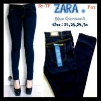 F43 celana cewek panjang Zara Woman, bhn soft jeans quality