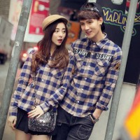 Kemeja Couple Brown Army