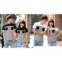 Kemeja Couple Salur Pocket
