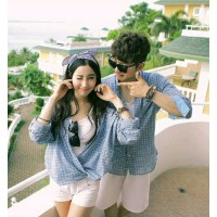 Kemeja Couple Blue Core