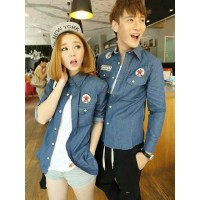 Kemeja Couple Denim Converse