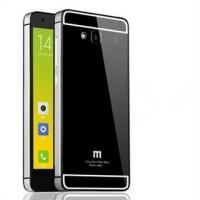 Aluminium Case Xiaomi Redmi 2 Ori (iphone 6 Style) - Black Silver