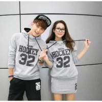 Setelan Jumper Couple Hockey SS Abu