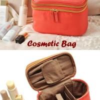 Cosmetic Bag 2 Tingkat (Dalamnya banyak sekat, muat banyak kosmetik)