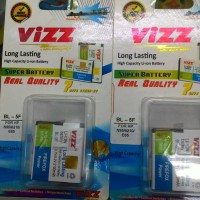 harga baterai vizz double power nokia BL-5F BL 5F 2100mAh N95 E65 Tokopedia.com