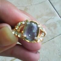 cincin manis batu safir australi cantik elegan biru tembus halus