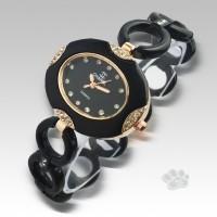 Chanel Fiber Link Oval (Black Gold)