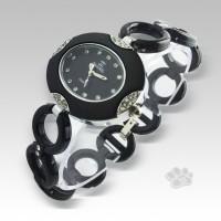 Chanel Fiber Link Oval (Black Silver)