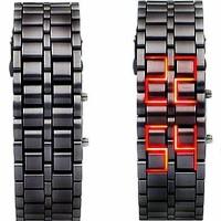 Jual Tokyo Flash Samurai Iron Metal Case jam tangan besi pria led watch Murah