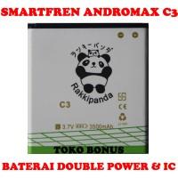 Baterai Smartfren Andromax C3 Double Power Rakki Panda