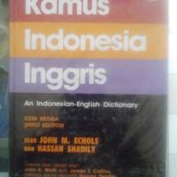 kamus indonesia inggris, karangan John M. Echols & Hassan Shadily