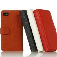 leather case/ dompet black berry Z10