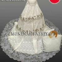 mukena broken white bordir high kualyti