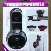 Lensa Super Wide 0.4x U004 Jepit Panjang SuperWide 0,4x for Handphone