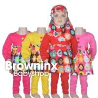 Baju Gamis Baju Muslim Anak Bunga Pita