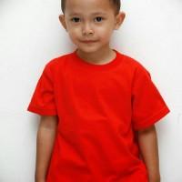 Kaos polos anak warna merah