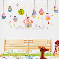 Cup Cake ABC1029 - Stiker Dinding / Wall Sticker