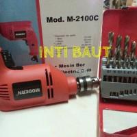 Mesin Bor Modern 2100 C + 1 Set Matabor 1-10 Mm (19 Pcs)