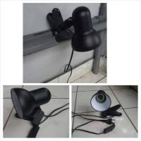 fitting lampu jepit untuk meja belajar, aquarium, fashion display,dll