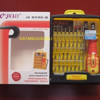 Obeng Jackly 32 In 1 Pinset Obeng Polypropylene Repair Tool Kit