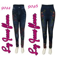 Legging Jeans Flower (fit to xxl)