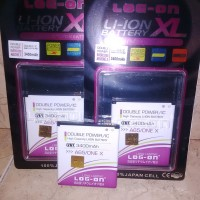 Baterai Log On Double Power Evercoss A65 One X Android One 3400mah