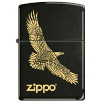 Zippo Eagle Flying Black Licorice 7793