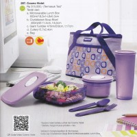 harga Tupperware Cosmo Violet Lunch Set Tokopedia.com