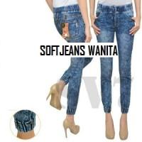harga Jogger Jeans Blue / Joger Soft Jeans / Sweatpants / Parkour Wanita Tokopedia.com