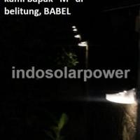 Lampu Dinding / tangga solar power tenaga surya 8 Led indosolar