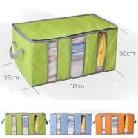 Bamboo Storage Box 3 sekat warna box organizer penyimpanan pakaian