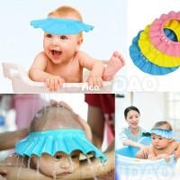 Topi Keramas Kancing Anak Kids Baby Bayi Pelindung Mata Shower Cap Mom