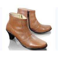 harga Sepatu Boot Kulit Wanita Cewek Kantor Kerja Formal Pantofel Fm-6702 Tokopedia.com