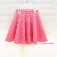 rok / skirt anak pink bintang