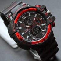 Jam Tangan G-Shock GWA-1100 Hitam List Merah Kw Super