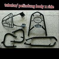 tubular / guard set / pelindung body motor x ride hitam