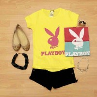 00055-7 Kaos Playboy (Ld+-80cm)