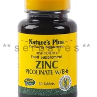 8370A - Suplemen nutrisi vitamin mineral Nature Plus Zinc Picolinate B6 isi 60