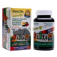 8307A - Suplemen nutrisi vitamin mineral Nature Plus Animal Parade isi 90
