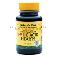 8323A - Suplemen nutrisi vitamin mineral Nature Plus Folic Acid Hearts isi 90