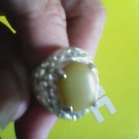 cincin batu fospor natural alami ring silfer motif unik antik