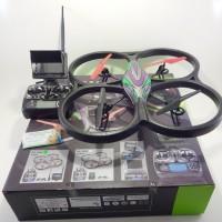 Rc quadcopter WL V666 FPV lihat video live di remote HD1280x720p 30fps