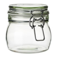 Ikea Korken ~ Jar with lid ~ clear glass / Toples Kaca Dengan Tutup