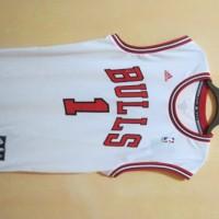 Jersey Basket Bulls putih Original