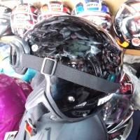 harga Helm Retro Pilot Momo Jpn Black Glossy + Kacamata Retro Tokopedia.com